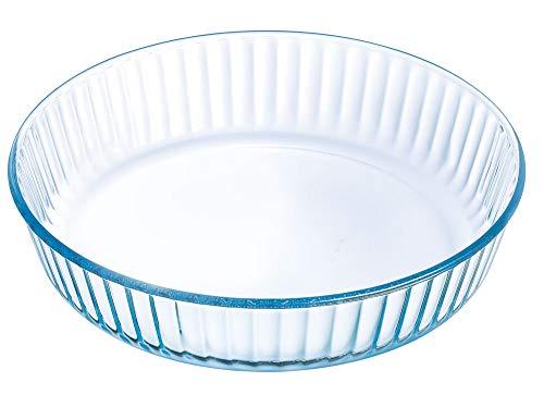 Pyrex Tarteform Backform Quicheform Obstkuchenform aus Hochwertiges Glas 26, 27, 30 cm cm NEU! (26 cm - 6 cm hoch)