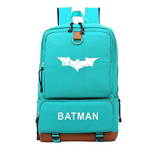 Kinder Rucksack Student Reisetasche Computer Tasche DC Comics Batman Canvas Rucksack Lake Blue