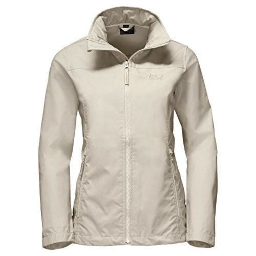 Jack Wolfskin Womens/Ladies Amber Road Polycotton Casual Jacket White Sand