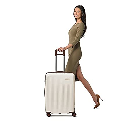 Briggs & Riley Sympatico Limited Edition Medium Expandable Spinner, 68cm, 110.5 litres, Cream Maleta, 68 cm, liters, Hueso (Cream)