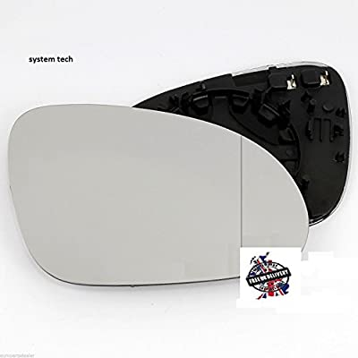 Volkswagen Golf Wing Mirror Glass With base-Heated, Silver Aspheric,RH (Driver Side),2004 to 2008 - cheap UK light shop.