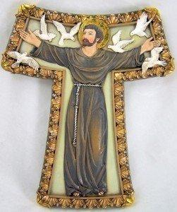 Renaissance Collection Joseph 's Studio von Römischen Tau Kreuz, Features Saint Francis mit Weiß...