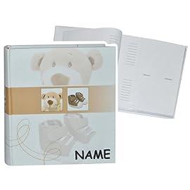 Einsteckalbum-Baby-erste-Fotos-Fe-braun-incl-Namen-Gebunden-zum-Einstecken-gro-fr-bis-zu-200-Bilder-Fotoalbum-Fotobuch-Photoalbum-Babyalb