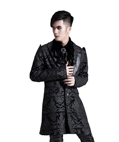 Punk Männlich Kostüm (Dark Dreams Gothic Mittelalter LARP Gehrock Lannister,)