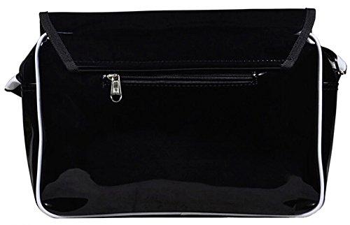 Siawasey anime giapponese Cartoon Cosplay messenger bag zaino borsa a tracolla (31modelli) nero Gintama Black Butler