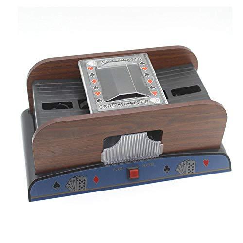 gouxia74534 Automatische Nebelmaschine aus Holz Optik mit hohem Gehalt Beste Qualität Shuffler Karten geeignet für Freizeit
