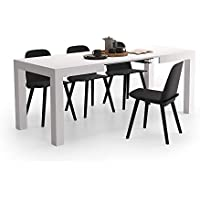 Mobili Fiver, Table Extensible Cuisine, First, Frêne Blanc, 120-200 x 80 x 76 cm, Mélaminé, Made in Italy