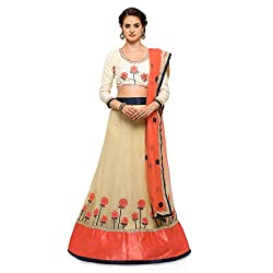 WomenS Beige Color Embroidered Lehenga ASNMT4723