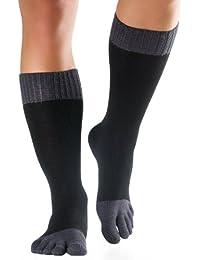 Knitido Essentials Winter-Cotton   Dicke Zehensocken aus Baumwolle, knielang, für Damen und Herren (bis Gr. 46), in schwarz und drei weiteren Farben