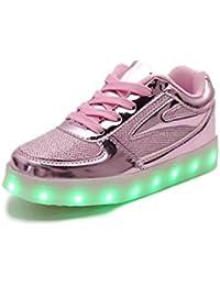 IDEA FRAMES 7 Farbe USB-Aufladung LED-Schuhe für Kinder Beiläufiger Turnschuh Mädchen und Jungen sport schuhe
