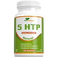 5-HTP 120 Veggie Capsules - Helps to Increase Melatonin and Serotonin levels - Promotes Healthy Sleep, Mood and Relaxation - Made in UK - Feel Better or Your Money Back