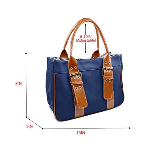 Millya Simply Style-Borsa in tela, taglia M, Nero (nero), Taglia unica Blu (blu)