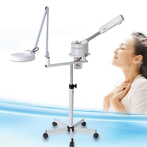 Gesichtssauna Ozon Kosmetik Bedampfer mit Lupenleuchte Dampfgerät für Gesicht Vapozon für Salon