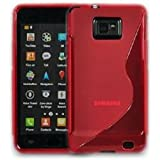 SAMSUNG GALAXY S2 i9100 RED SLINE GEL CASE / COVER WITH SCREEN PROTECTOR