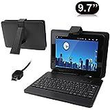 Housse clavier universelle tablette tactile 9.7 pouces Mini USB Noir