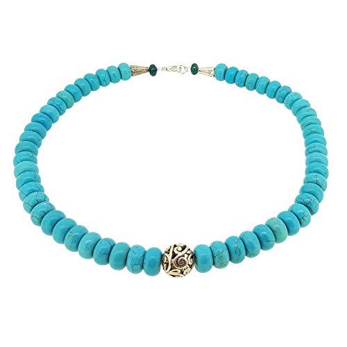 TreasureBay Damen-Halskette Türkis