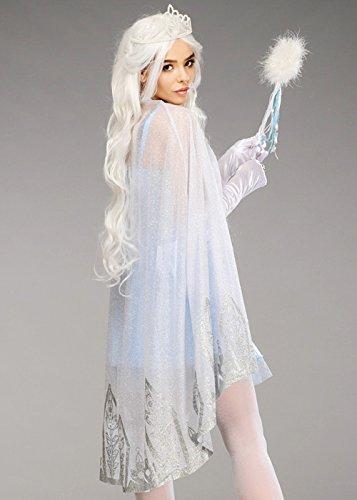 immernde silberne Glitter Cape (Glitter Queen Kostüm)