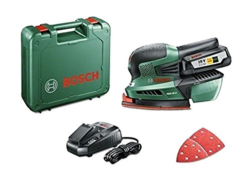 Bosch Home and Garden PSM 18 LI Levigatrice Palmare con Batteria al Litio, 18 V