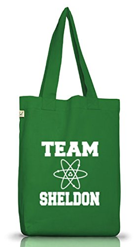 Shirtstreet24, TEAM SHELDON, Jutebeutel Stoff Tasche Earth Positive Moss Green