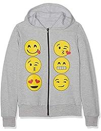 Niños Emoji emoticones caras largas Prendas con capucha Tops niñas