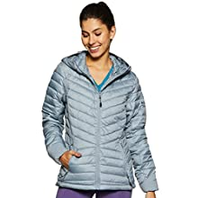 Columbia Women's Hooded Jacket, Windgates, Tradewinds Grey Heather, Medium