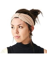 Damen Floral Stirnband TurbanTwist Wrap Twisted verknotete Knoten Haarbänder