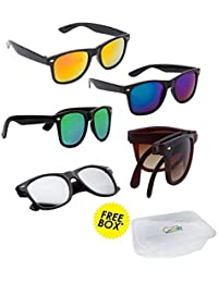 Elligator UV Protected Combo of Multicolour Unisex Sunglasses
