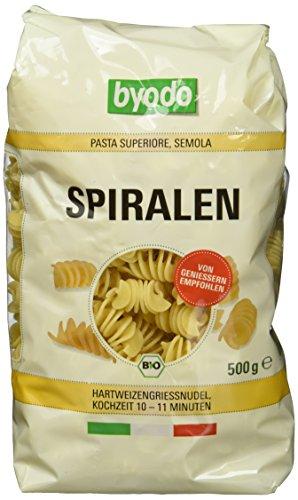 Byodo Spiralen hell, 6er Pack (6 x 500 g Packung) - Bio