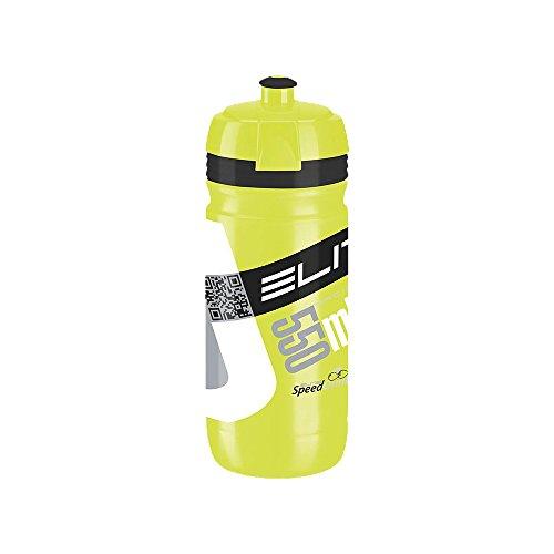 Elite Corsa - Bidón de ciclismo, color amarillo/negro, 550 ml