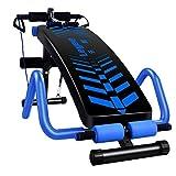 Lxn Déclin Ajustable en Forme d'Arc Sitack Bench Crunch Board Exercice Fitness Workout, Appareil de Fitness Multifonctionnel - Pliable - Grand accoudoir
