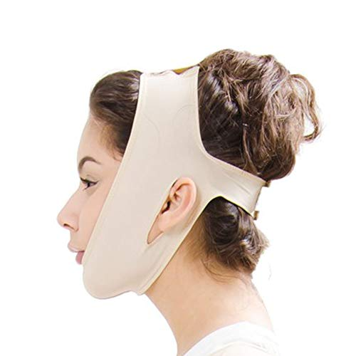 XIAOPING Kleine V-Linie Gürtel Kinnwangen Schlanker Körper Aufhellende Anti-Falten-Maske Ultradünner Schultergurt Dehnbarer, Straffender Doppelkinnwangen-Hebebandage (Größe: S-XXL) (Size : XL) -