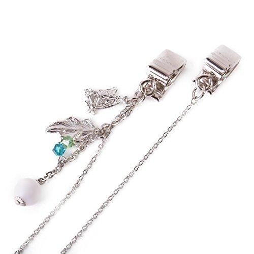 CHARM Casualbox | Hut Fixiermittel Halskette Clip Zubehören Uv Lesen Schön Elegant Schmetterling Silber