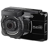 Ivation-Dash Cam 1080p HD Video registratore GPS & 140°, grandangolo, rilevazione movimento, sensore G, 5-Lente in vetro a luce bassa WDR Dashcam & HDR