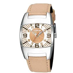 Lorus rg299ex9 Clock, Borrego Beige Leather Strap