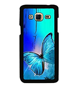 Fuson Premium 2D Back Case Cover Colourful Butterfly With Yellow Background Degined For Samsung Galaxy J3::Samsung Galaxy J3 J300F