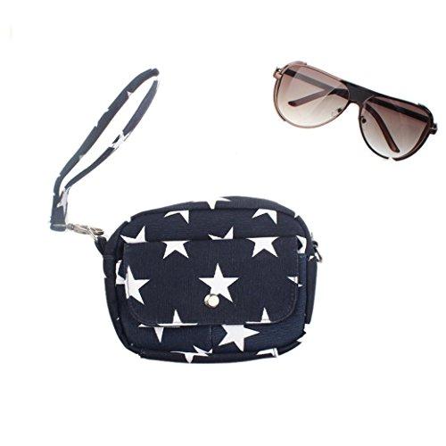 BZLine® Frauen Taschen Mini kleine Messenger Cross Body Handtasche Schultertasche, 16*13*5.5cm Dunkelblau