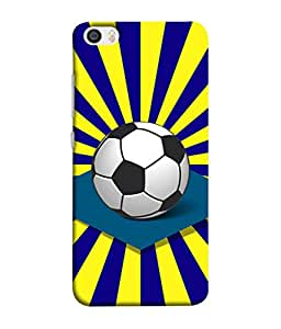 PrintVisa Designer Back Case Cover for Xiaomi Mi 5 :: Redmi Mi5 (Pattern Design Team Soccer Ball Graphic Championship)