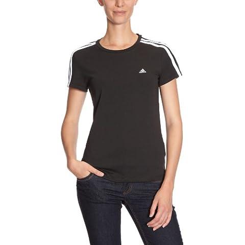 adidas - Camiseta para mujer, tamaño L, color negro / blanco