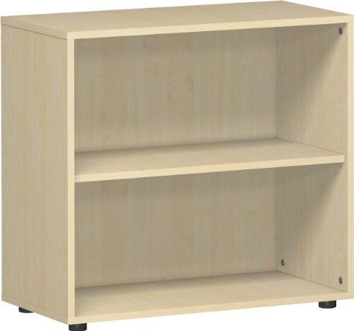 Gera Möbel S-382001-AH Regal Mailand 2 OH mit Standfüßen, 80 x 40 x 75,2 cm, ahorn -