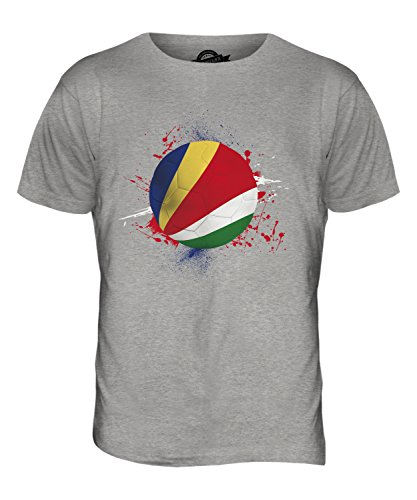 CandyMix Seychellen Fußball Herren T Shirt Grau Meliert