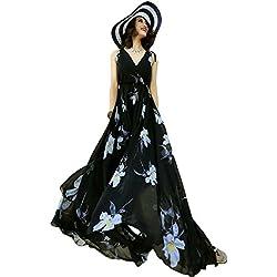 Years Calm Damen Dekolletiertes Kleid One size Gr. 42, schwarz