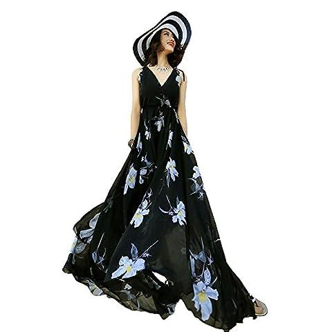 Years Calm - Robe - Ajourée - Sans Manche - Femme Taille Unique - noir - 42