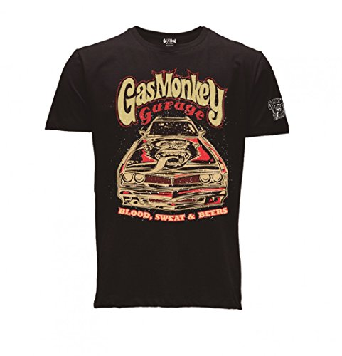 Gas Monkey Garage T-Shirt Camaro, Color:black;Größe:L