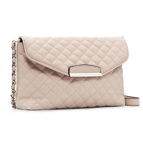 Yummilan Piccolo quadrato Singolo sacchetto di spalla per le donne (Nero) Bianca