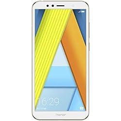 "Huawei Honor 7A - Smartphone Dual SIM de 5.7"" (4G, Octa-Core Snapdragon 430, RAM de 2 GB, Memoria de 16 GB, cámara de 13 MP, Android Oreo) Color Dorado"