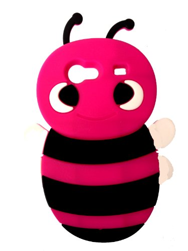 SKS Distribution® rosa caldo Bumble Bee Custodia in silicone / Cover / Case per Samsung I9070 Galaxy S Advance - Rosa Bumble Bee