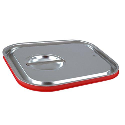GVK ECO GN-Behälter Gastronorm Deckel Silikon 1/6 bis 2/3 in verschiedenen Ausführungen 2/3 GN unterseitig Gn Pan