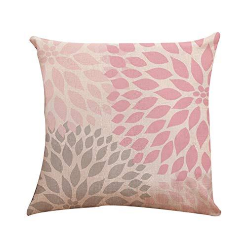 OHQ Leinen Drucken Indischer Stil Kissen Kissenbezüge Dekorative Kissenhülle Für Sofa,18