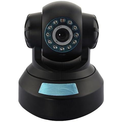 Neo Coolcam Pan/Tilt Telecamera IP Camera, Wireless, Videosorveglianza Robotizzata Internet con Free DDNS, Nero