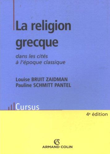 La religion grecque dans les cités à l'époque classique
